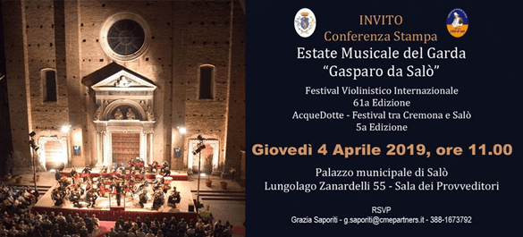 Conferenza stampa Estate Musicale 2019